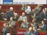 Vote UMP PS NC du traité de Lisbonne