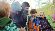 Jo Swinson enjoys toasted marshmallows on campaign trail