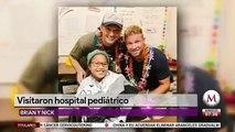 Brian y Nick de Backstreet Boys visitan hospital en Hawaii