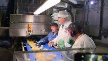 Prime Minister Boris Johnson visits the Tayto factory in NI