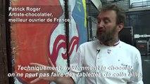 Chute du mur de Berlin: Patrick Roger créé une réplique en chocolat