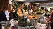Atelier de terrariums à la boutique Succulente