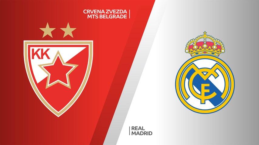 Crvena Zvezda mts Belgrade - Real Madrid Highlights | Turkish Airlines EuroLeague, RS Round 7
