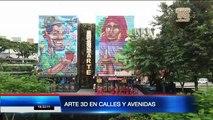 Arte 3D en calles y avenidas fomentan turismo en Guayaquil