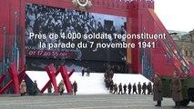 Russie: reconstitution historique d'un défilé militaire de 1941 sur la place Rouge
