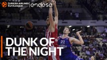 Endesa Dunk of the Night: Nikola Milutinov, Olympiacos Piraeus