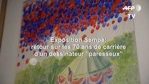 """Exposition Sempé: retour sur les 70 ans de carrière d'un dessinateur """"paresseux"""""""