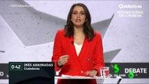 """Minuto de oro de Inés Arrimadas (Cs): """"Con un 2% de más voto a Ciudadanos podemos subir 20 escaños"""""""
