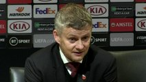 Happy with the three strikers - Solskjaer