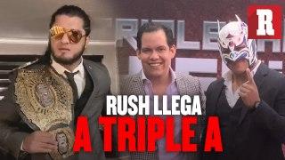 Asi llegaron Rush y Dragon Lee a Triple A