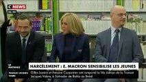 Regardez le message vidéo posté hier soir par Emmanuel Macron sur Snapchat depuis les salons de l'Elysée s'adressant aux jeunes à propos du harcèlement scolaire