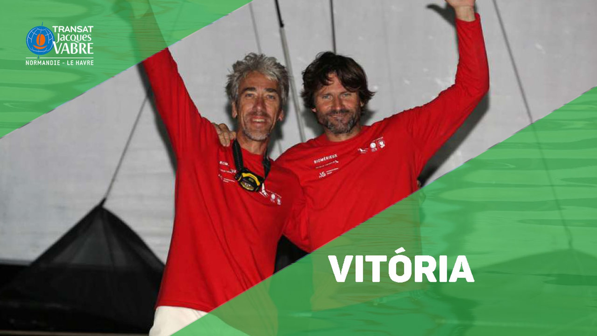 Chegada do campeão da Multi50 da Transat Jacques Vabre