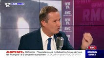 """Réforme des retraites: Nicolas Dupont-Aignan affirme que """"toute réforme des retraites ne doit commencer que par les nouveaux entrants"""""""
