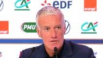 Football - Équipe de France - Conférence de presse de Didier Deschamps qui évoque Benjamin Mendy