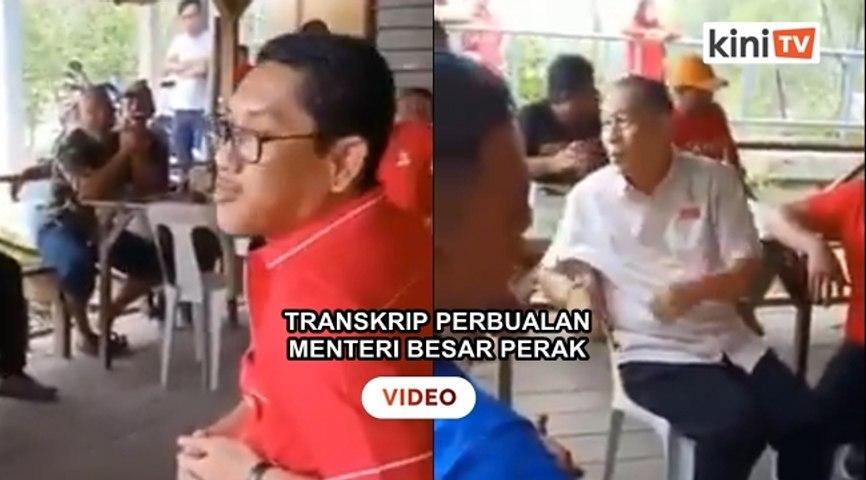 Menteri Besar Perak  terlepas cakap keretakan dalaman PH dan DAP