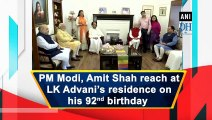 PM Modi, Amit Shah meet LK Advani on his 92nd birthday