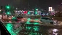 Heavy rainfall floods streets of Rotherham
