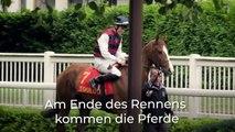Die Formalitäten eines Rennens, erklärt von Claudie Chabriac, Präsidentin der Biarritz-Rennbahn.
