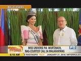 Miss Universe Pia Wurtzbach, nagcourtesy call rin sa QC, Makati at Batasan