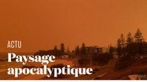 Les incendies en Australie envahissent une ville d'une lumière orangée