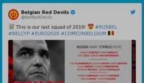 Diables Rouges : Roberto Martinez a annoncé sa dernière sélection dans le cadre des qualifications pour affronter la Russie et Chypre