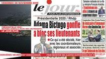 Le Titrologue du 08 Novembre 2019 : Présidentielle 2020, Bictogo gonfle à bloc ses lieutenants
