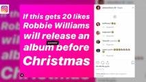 Robbie Williams trolls Justin Bieber with Christmas album release post