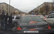 Un automobiliste en Mercedes se fait braquer en pleine journée !