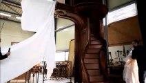 L'escalier, œuvre d'art de l'entreprise Somme, dévoilé à Dieuze