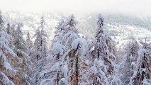 Les images féeriques du retour de la neige à Serre Chevalier