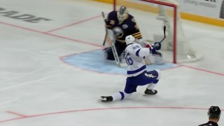Nikita Kucherov buries Point's pass to open scoring in Global Series