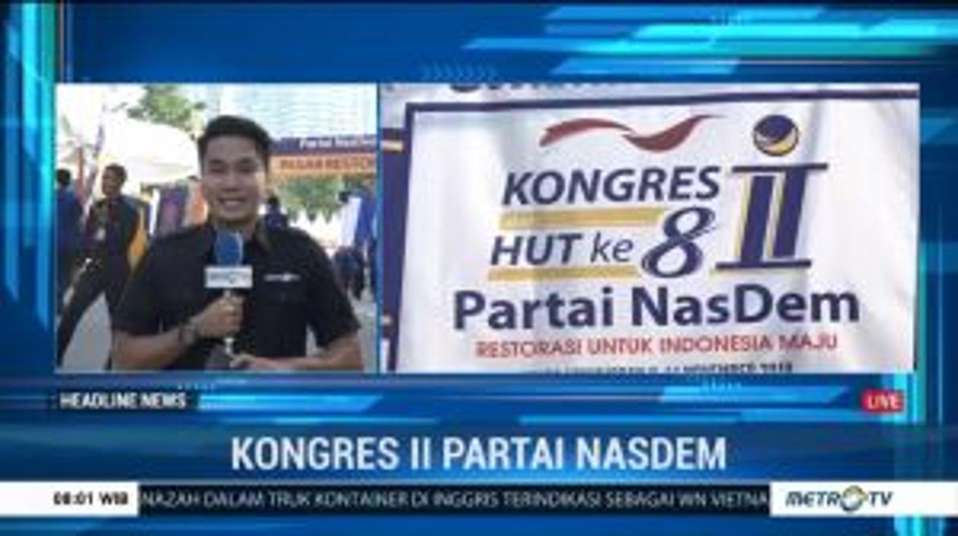 Partai NasDem akan Gelar Rapat Pleno di Kongres II Hari Ini