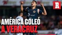 América goleó a Veracruz y aseguró su boleto a la Liguilla