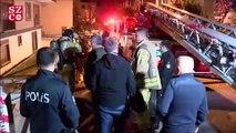 Garajdaki otomobil yandı! Binada mahsur kalan 4 kişi son anda kurtarıldı