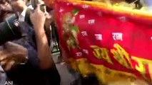 अयोध्या केस में फैसले के बाद अदालत परिसर में लगे 'जय श्री राम' के नारे