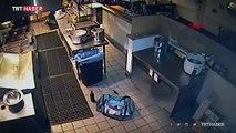 ABD'de restoranın mutfağına girmeye çalışan hırsız yere çakıldı