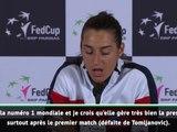 "Fed Cup - Garcia : ""Déçue de ma performance"""