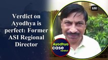 Verdict on Ayodhya is perfect: Former ASI Regional Director