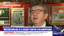 """Marche contre l'islamophobie: Jean-Luc Mélenchon fustige les propos de Marine Le Pen, """"qui tourne le dos à la France"""""""