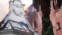 حريق في مقر جامعة في سانتياغو على هامش مسيرة ضخمة