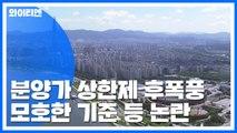 분양가 상한제 '모호한 기준'...후폭풍 계속 / YTN