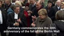 On 30th Wall anniversary, Merkel urges Europe to defend freedom