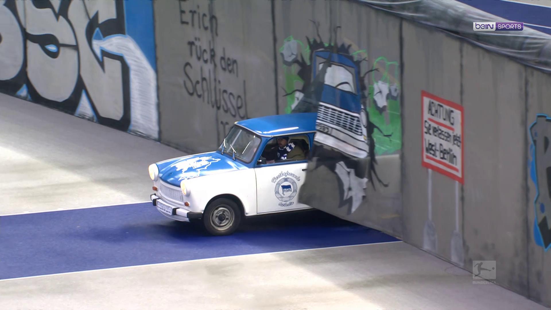 Le Hertha commémore la chute du mur de Berlin