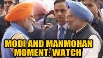 PM Modi greets former PM Manmohan Singh during Kartarpur ceremony