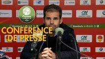 Conférence de presse US Orléans - Paris FC (0-1) : Didier OLLE-NICOLLE (USO) - Mecha BAZDAREVIC (PFC) - 2019/2020