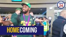 WATCH | Kolisi leads Springbok charge as team touches down in PE