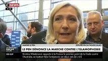 Marine Le Pen a estimé que les personnes qui iront manifester dimanche 10 novembre contre l'islamophobie, notamment de La France Insoumise, seront « main dans la main avec les islamistes»