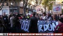 Des milliers de Marseillais ont marché contre le mal-logement