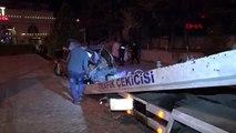 Avcılar'da otomobil restoran bahçesine uçtu 1'i ağır 2 yaralı