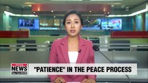 Entering second half of administration, Presidential office promise patient Korean peace drive
